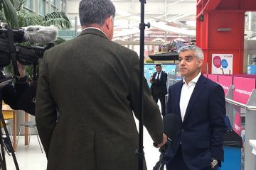 Mayor of London Sadiq Khan is interviewed about the capital's new congestion charge